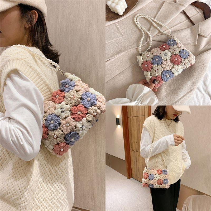 Q8kfv sac de coffre dames sacs à main femmes bricolage bricolage de haute qualité sacs à main de la mode dessin animé 2D motif motif haute épaule cuir sacs de qualité