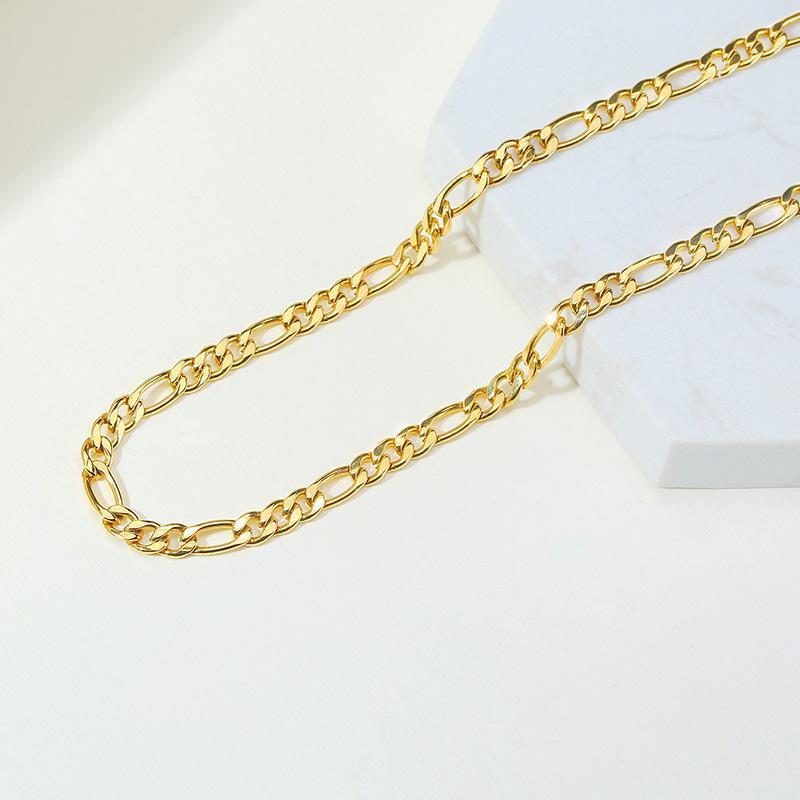 """Ketten Figaro Kette Halskette Edelstahl Link Gold Gefüllte Choker Layered Frauen Mädchen 14 """"18"""""""