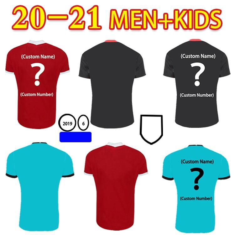 2021 جديد لكرة القدم جيرسي فيرجيل بريسينو مانه م. صلاح هندرسون روبرتسون مراوح النسخة المنزل بعيدا قميص رجل + أطفال كرة القدم قميص