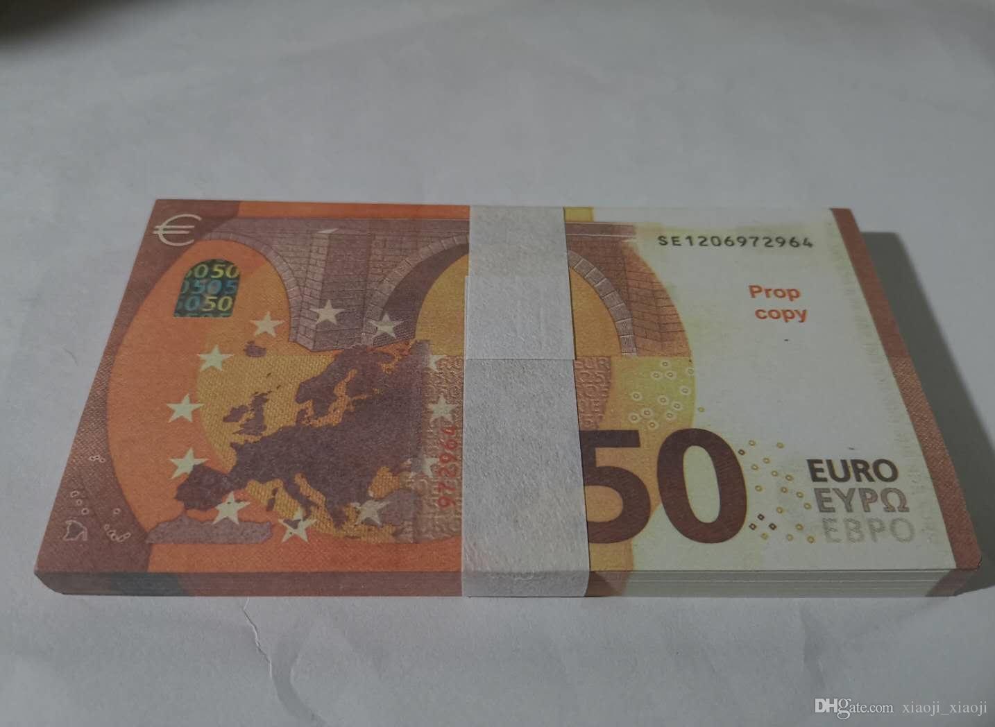 Feiertagsspielzeug 028 Prop Währung Geschenkbrett Spiel Film Trick Bar Requisite-Prop-Euro-Kind 50 Geld gefälschter Magie Admnh