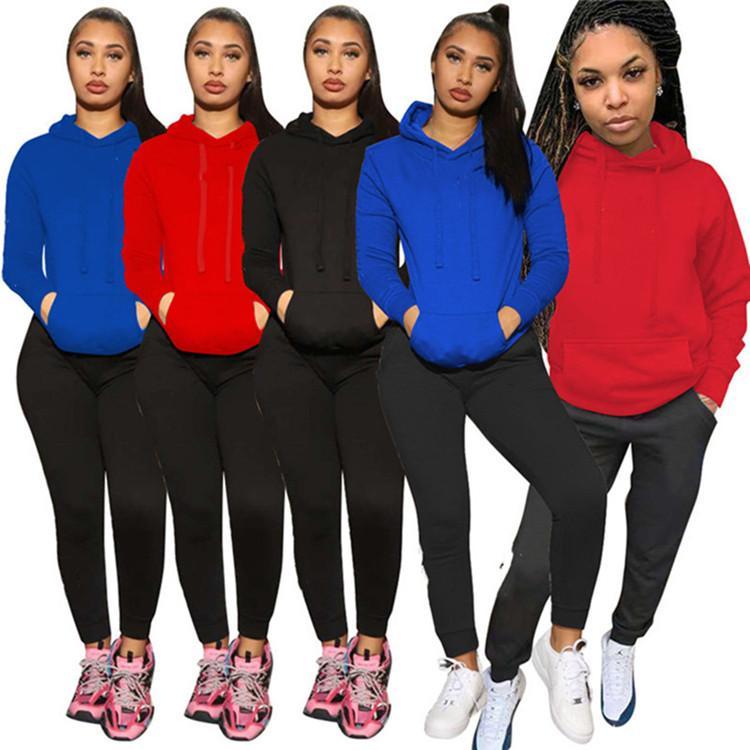 Damen Outfits Langarm 2 Stück Set Trainingsanzug Jogging Sportuit Hemd Leggings Outfits Sweatshirt Hosen Sportanzug Heißer Verkauf KLW5607