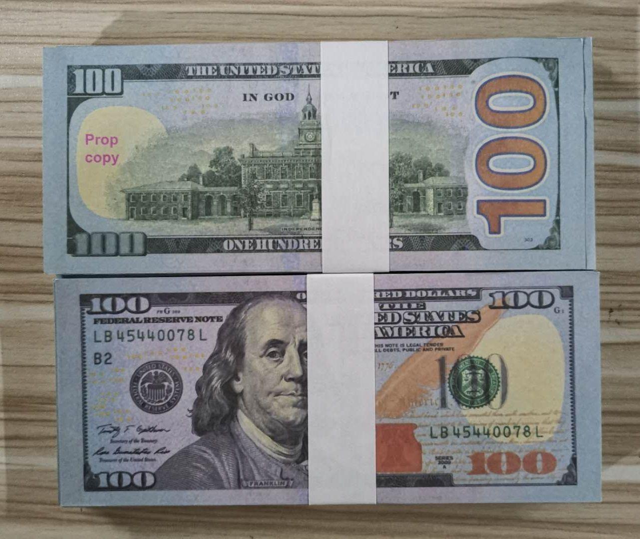 USA-Dollar-Prop-Geld-Geld-Banknoten-Papier-Neuheit Spielzeug 20 50 100 Dollar-Währung-Party Fake Geld Kinder Geschenk Spielzeug Banknote 19