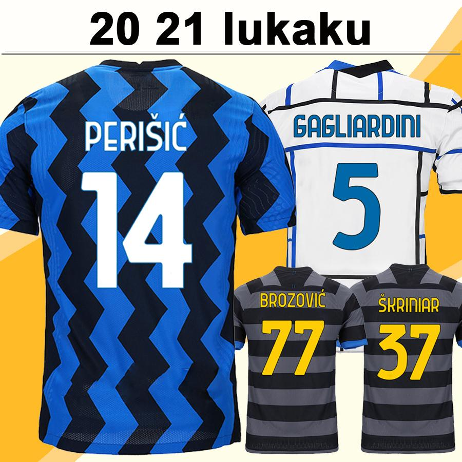 20 21 ALEXIS LUKAKU Home Aawy 3rd Mens Soccer Jerseys BROZOVIC SKRINIAR Football Shirt SKRINIAR D' AMBROSIO VECINO GAGLIARDINI Short Sleeve