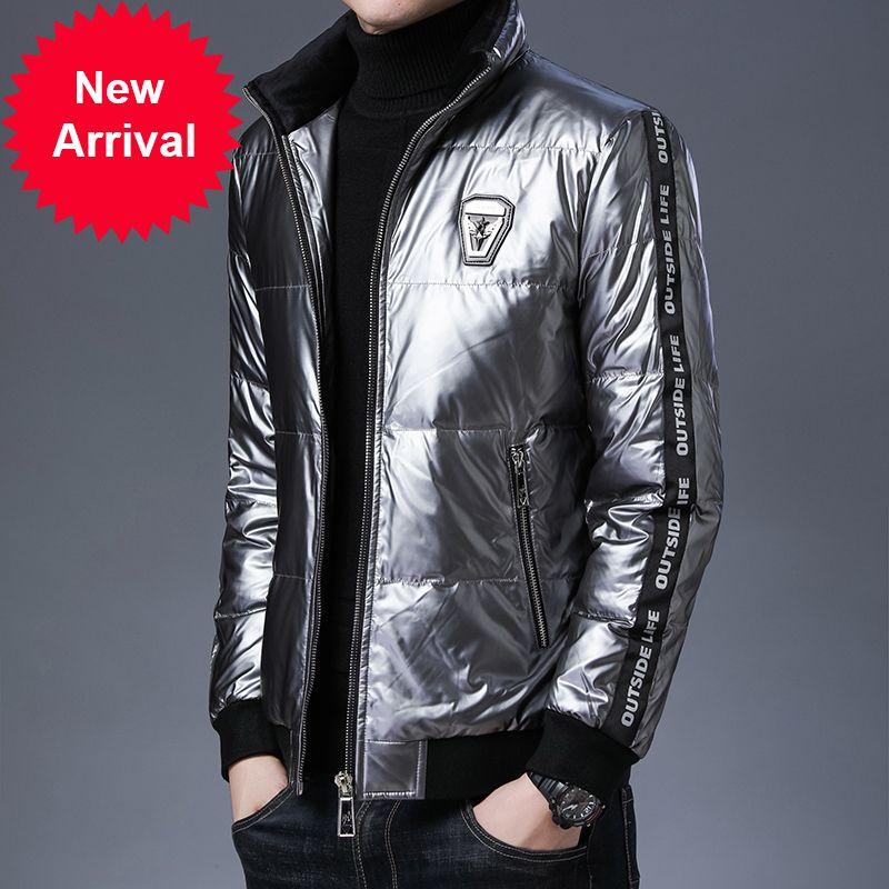 2020 de la marque top grade décontracté mode brillant bulle veste hiver vent-à-vent streetwear manteaux designer hommes vêtements