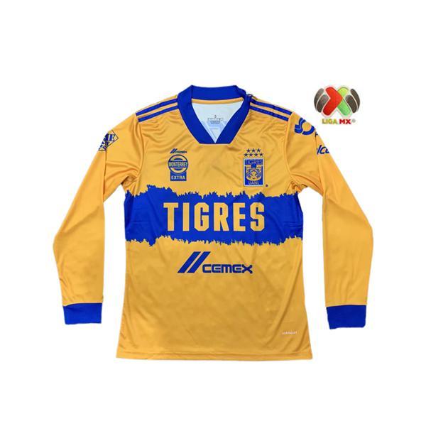 Homens 2020 2021 Uanl Tigres Gignac Futebol Jerseys Manga Longa Kits 20 21 Vargas Camiseta Maillot Home Away Terceiro Pizarro México Futebol Shi