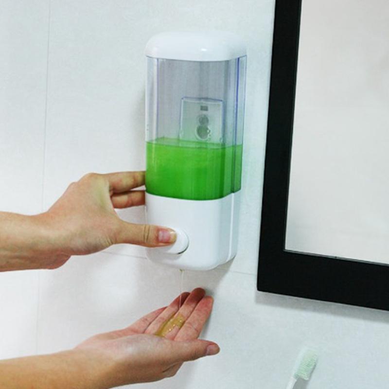 Wall Mounted Touchless plástico automático Líquido Sensor Soap Dispenser Para Banho Cozinha Grande Capacidade
