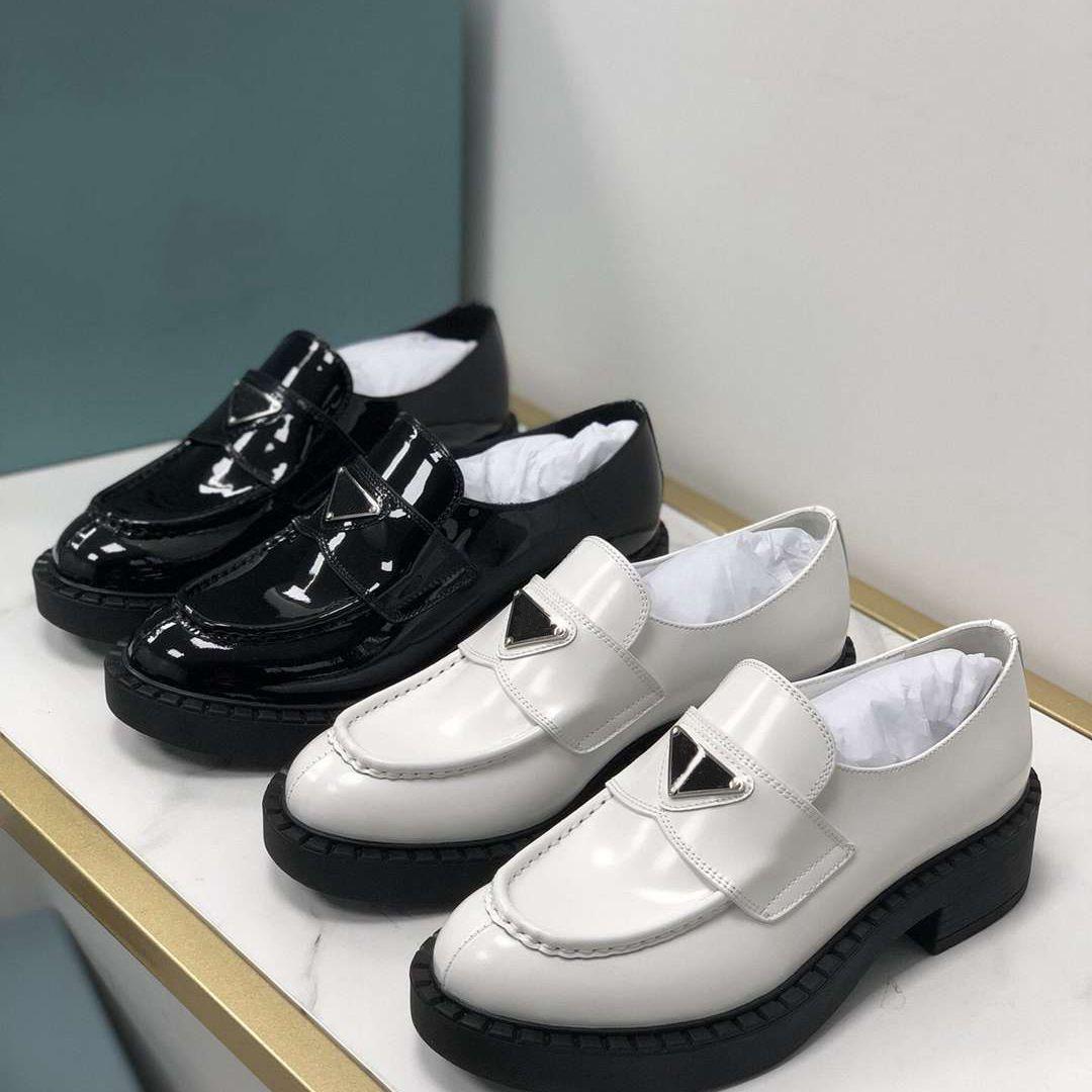 الكلاسيكية منصة المرأة عارضة أحذية جلد طبيعي سميكة باطن الأحذية مصمم الجلود أزياء المرأة chaussures حجم 35-41