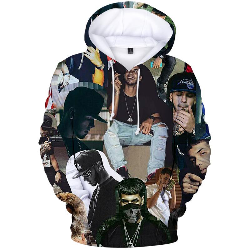 Harajuku 2020 Strwwtwear Swaetshirt ANUEL AA Prints Cotton Long Sleeve Hooded Pullovers Autumn 3D Casual Hoodies Unisex Hoody