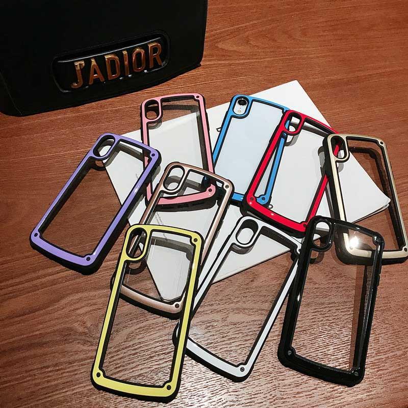 Capas de telefone celular bonito colorido PC Celulares Clear Acrílico Volta Jelly Capa de cor de macaroon para iphone 7 8PLUS xr x max 11