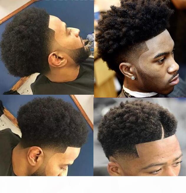 Ünlü Peruk Erkek Hairpieces Afro Curl Tam Dantel Peruk Kahverengi Siyah Renk Brezilyalı Remy İnsan Saç Erkekler Saç Değiştirme Siyah Erkekler Için