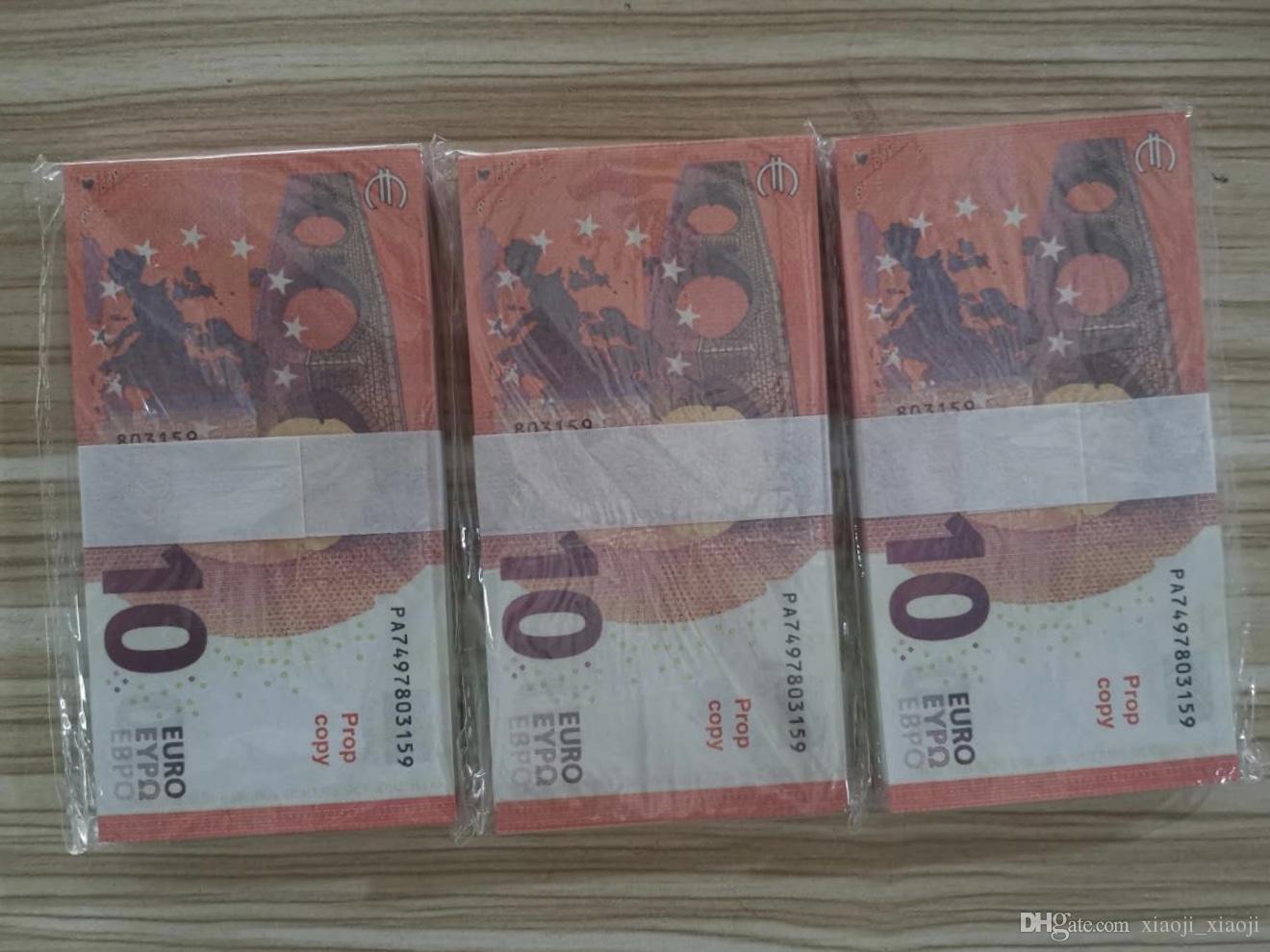 € Поддельные деньги Banknotes Prop Paper Paper Fake Note Мужчины 10 Bank Euro Collection856 Деньги для законопроектов Цены Бизнес Деньги для подарков AHGDP