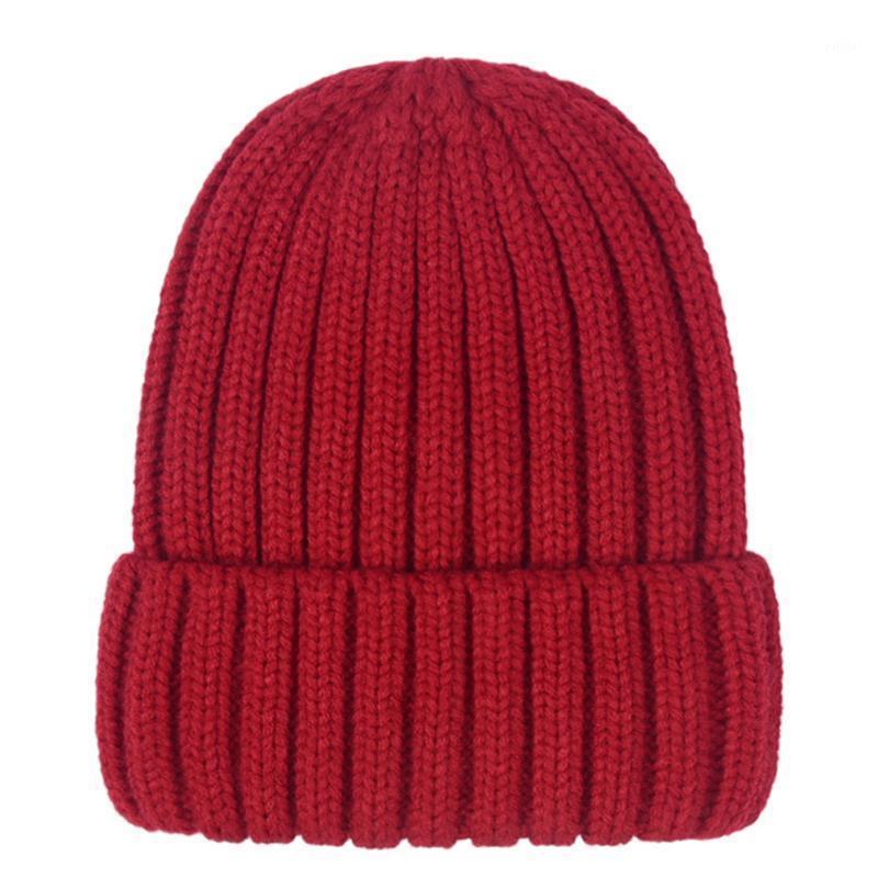 Moda Kış Şapka Kadınlar Beanie Şapka Kadınlar Için Sıcak Örme Erkek Çocuklar Sıcak Tıknaz Kalın Stredy1