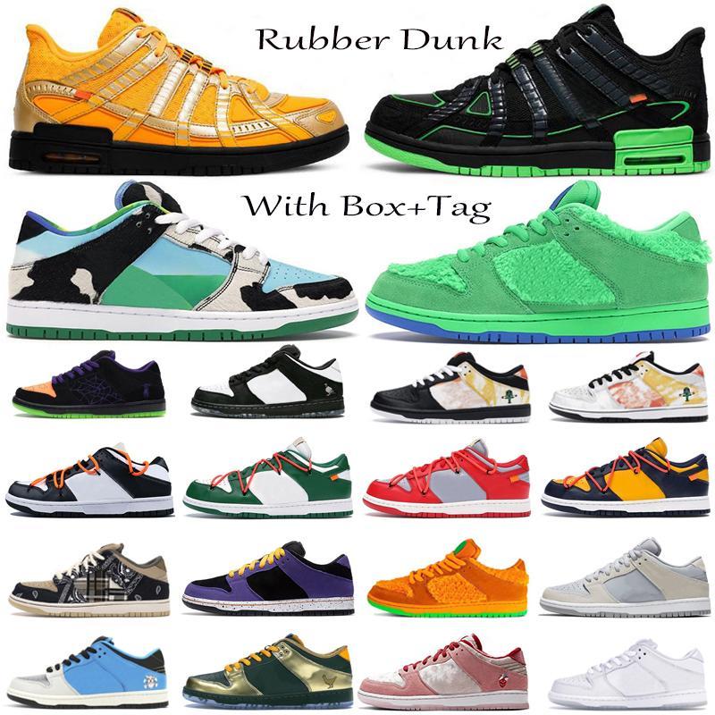 2021 고무 덩크 SB 낮은 그림자 덩크 땅딸막 한 Dunky 녹색 스트라이크 스테이플 레이커스 남성 트레이너 Zapatos 여성 스포츠 운동화 신발을 실행