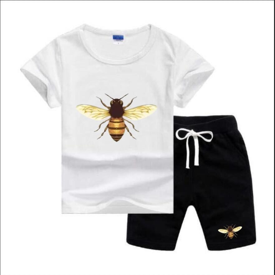 Bebek Erkek ve Kız T-Shirt ve Şort Çocuk Giyim Erkek Eşofman 2 Çocuk Giyim Seti Sıcak Satmak Moda Yaz Çocuk