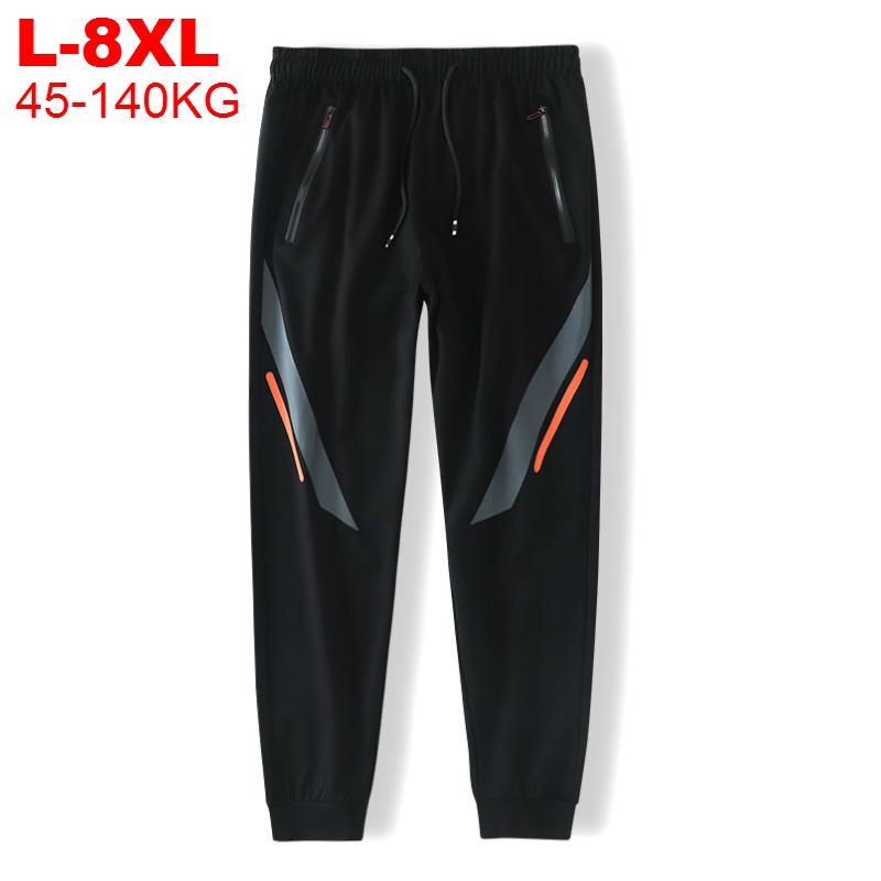 Track 8XL Joggers Hommes 7xl Plus Pantalons de Streetwear Chinois Homme Pantalon de survêtement de grande taille Pantalon de jogging sportif pour hommes