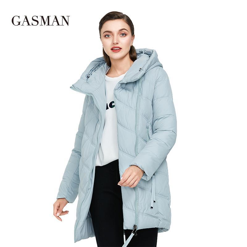 Gasman Black молния стройная зимняя одежда женская куртка мода с капюшоном Bio пальто женские теплые парки Parkas Long Puffer Gooker 18806 201123