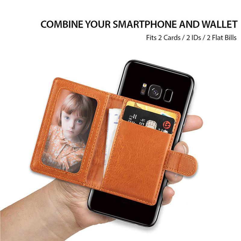 Sticker universel 3m Back carte de téléphone Slot Cuir Stick Stick sur portefeuille Cash ID titulaire de cas de téléphone portable iPhone X XS max xr 7 8 6
