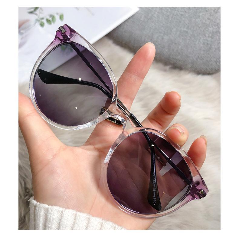 Bayan Güneş Gözlüğü Yuvarlak Erkek Kadın Gerçek UV Koruma Lensler Kumaş, Kutu, Aksesuarları ile Kız Arkadaşı için Güneş Gözlükleri Moda Hediye.