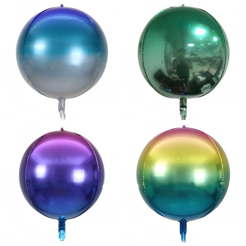 Große Größe 22 Zoll Festival Ballon Gradienten Farben Aluminium Film Falten Regenbogen Ballons für Party Dekorationen 1 8JE E19