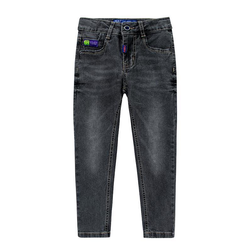 Sıcak satış çocuk giyim sonbahar ve kış erkek yakışıklı kot düğmesi streç pantolon çocuk rahat kot pantolon