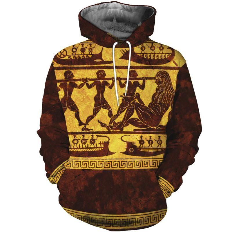 Herren Hoodies Sweatshirts 3D All über gedruckt Griechisch Mythologie Kleidung Herbst Winter Mode Casual Unisex Hoodie / Sweatshirt / Zip Jacke MZ0