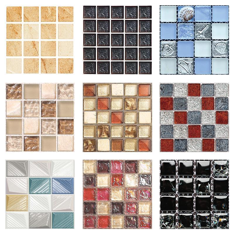 Duvar Çıkartmaları Mozaik Karo 3D Stereo Dekorasyon Boyama 10 * 10