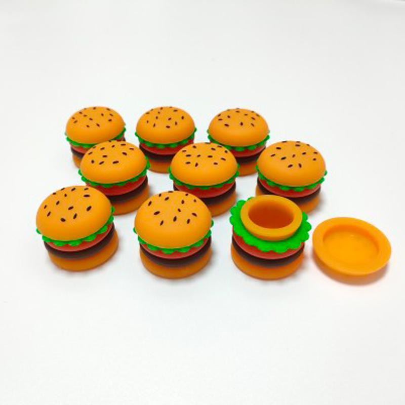 New Hamburger Silicone Jar DAB cera contenitore olio di cera 5 ml contenitore di silicio contenitore di cibo per uso del barattolo per vapore per vaporizzatore vaporizzatore deposito utensile