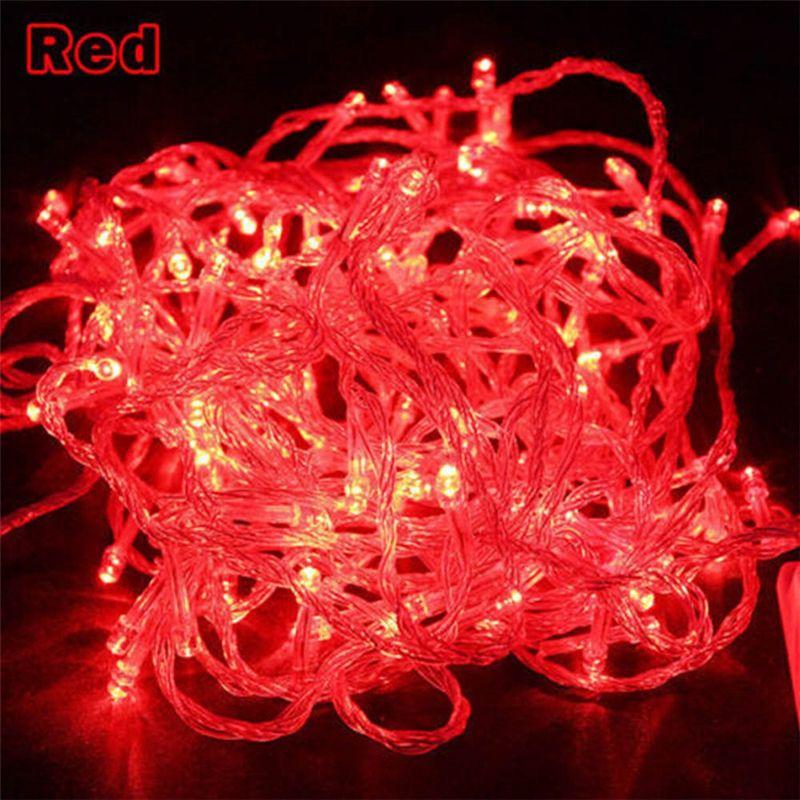 10m 20M LED String Fairy Light Férias Casa Decoração AC220V 110V Luz Decorativa Ao Ar Livre Água Com Controlador 9 Cores