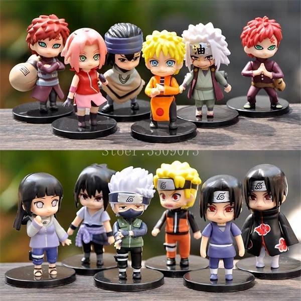 12 adet Naruto Anime Şekil Uzumaki Sasuku PVC Aksiyon Figürleri Sakura Kakashi Gaara Minyatür Anime Figürinler Koleksiyon Model Bebek Q1217