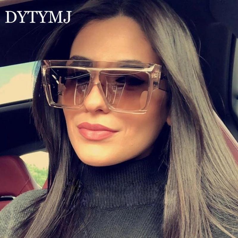 Dytymj Sunglasses Gafas Mulheres Sol Sol Square Square Mulheres Mulheres de Alta Qualidade Vintage Hombre Gradiente de Retro Sunglasses VHQGI