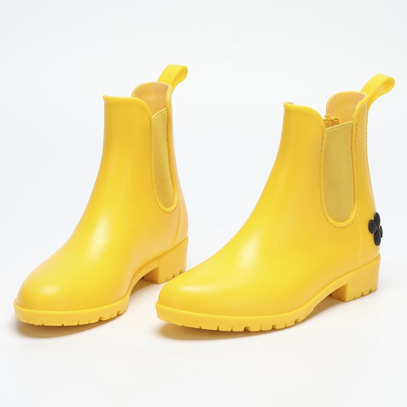 New Fashion Classic Rain Kids Children's PVC Rubber Water Shoes Waterproof Girls Boots Women Teens Size 35-39