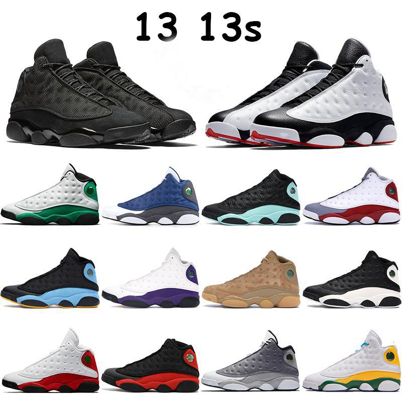 Hommes 13 13s Chaussures de basket Basketkman Sneakers Sneakers Playoff Flint Noir Cat Island Lucky Green Bred Bred Pure Platinum Chaussures Hommes Formateurs