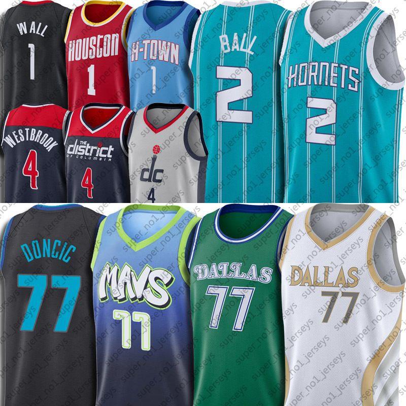 Luka Lamelo Doncic Ball Jersey Charlottes Dalla John Russell Parede Westbrook Jerseys Gordon Hakeem Hayward Olajuwon Basketball City Jersey