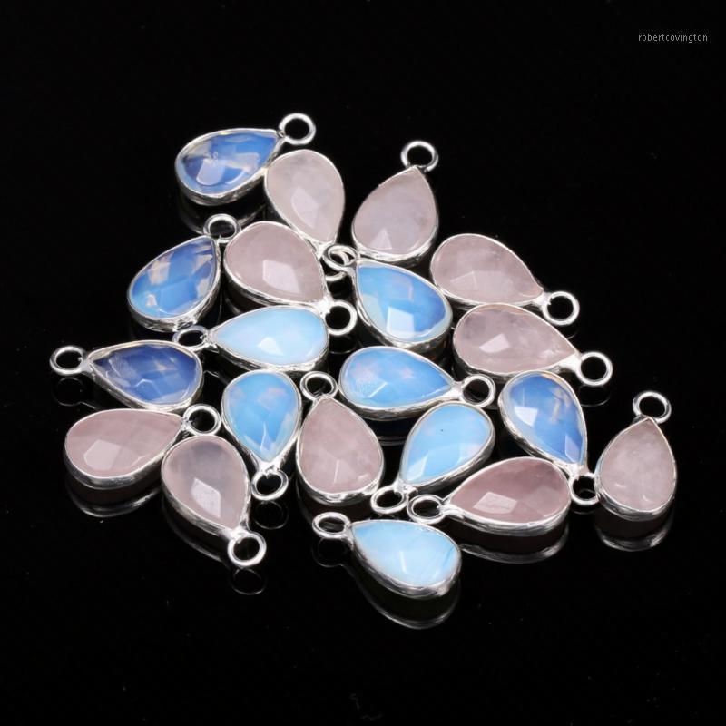 Pingente natural da forma da drop-shaped da forma da pedra para a jóia que faz a colar de DIY Brincos de bracelete Acessórios 8x16mm1
