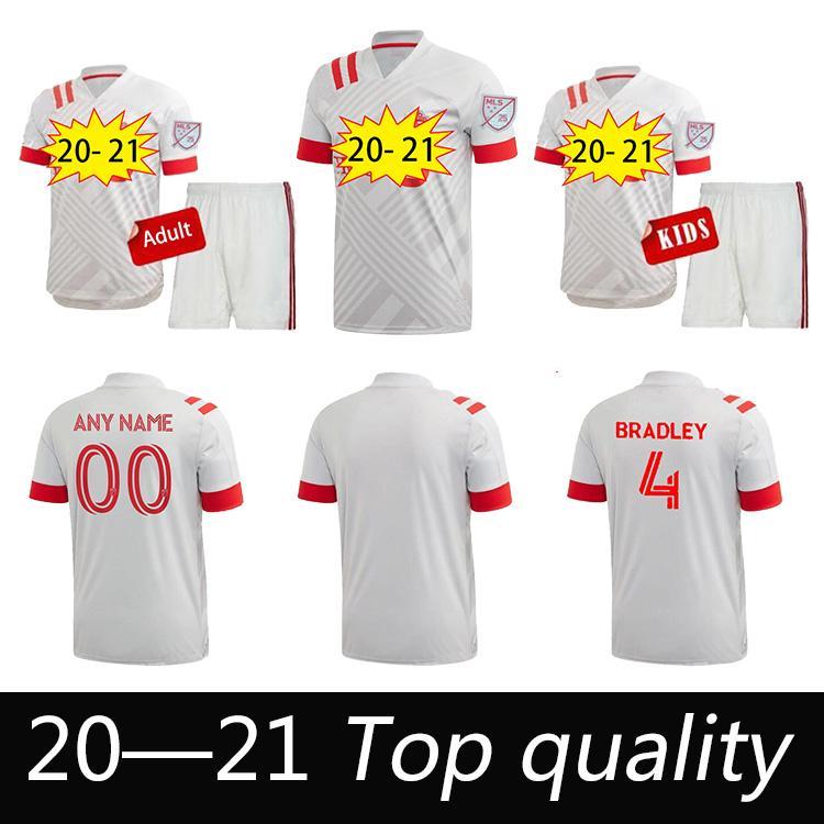 20 21 Toronto FC Mens Soccer Jerseys New Bradley Pozuelo Altidore Away Football Shirt Morrow Piatti Marshall-Rutty Osorio Uniformes cortos
