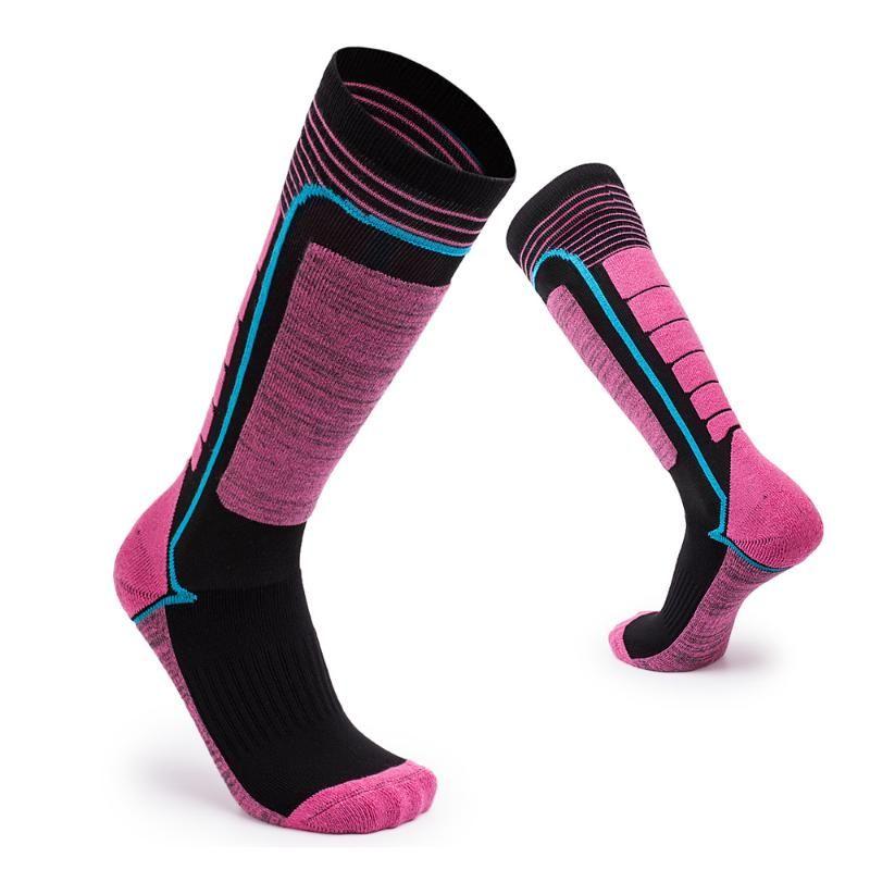 Chaussettes de ski de sport Haute Qualité confortable exquise design de genoux longueur élastique chaussettes chaudes de remise en plein air