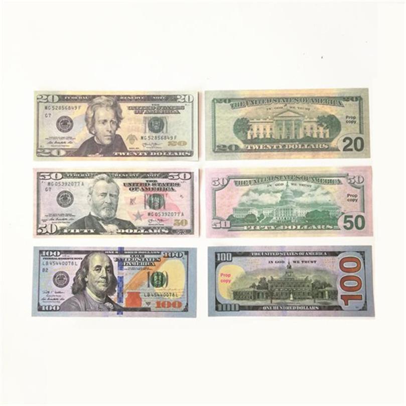 2020 Vente chaude Moderne Moderne USD 1/5/10/20/50/100 Copier de papier Banknote Popier argent euro 100pcs / pack