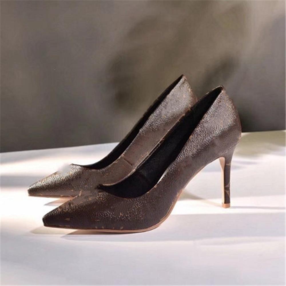 Louis vuitton O novo 2021 vestido Shoes Party Office Universal High Beels Moda Versátil Senhoras Sapatos de Luxo Designer Design 5fa