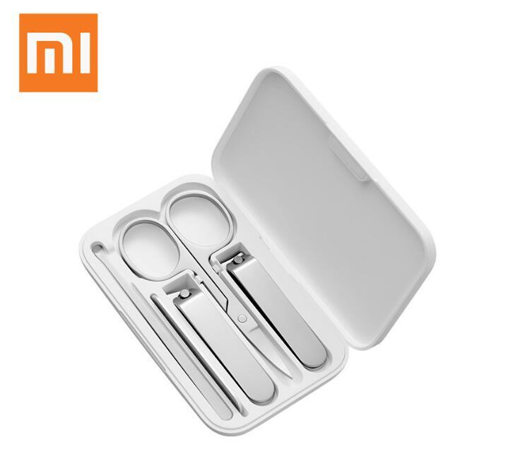 Xiaomi Mijia 네일 깎기 세트 5pcs 휴대용 손톱 발톱 매니큐어 페디큐어 자성 흡수 스테인레스 스틸