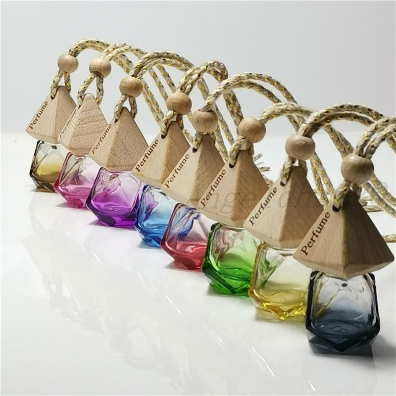 Diamantauto Parfüm Flasche Anhänger leerer Flasche Luftauffrischer Parfüm Duft Diffusor Leer Glasflasche Tragbare Anhänger Ornament