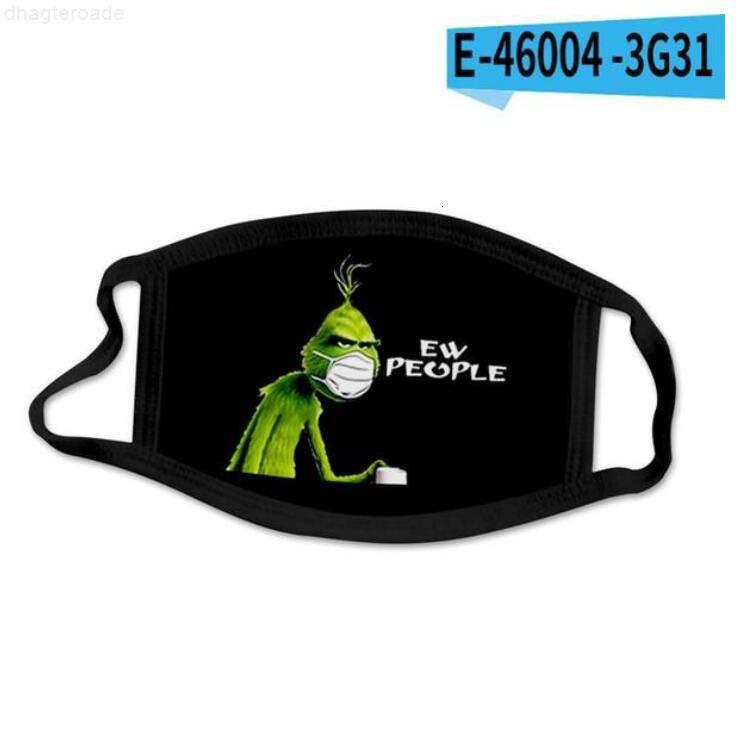 Grinch de algodão roubou natal 3d impressão preto cosplay chegadas máscaras lavável reutilizável à prova de poeira adultos fashion fashion máscara