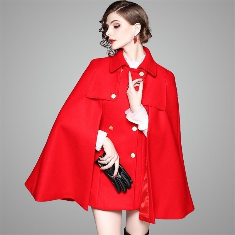 Primavera Abrigo de lana de otoño nueva moda traje largo y talla grande Winter Winter CoA 201217
