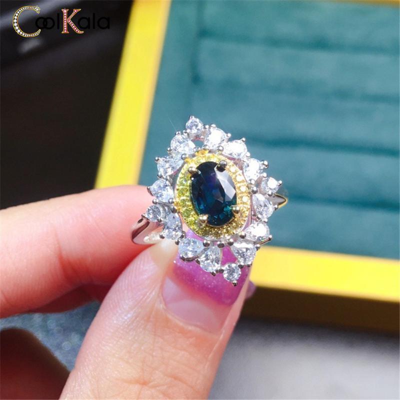 Обручальные кольца Coolkala роскошь, полный цвет, кольцо, женский голос, красные ювелирные изделия в прямом эфире.