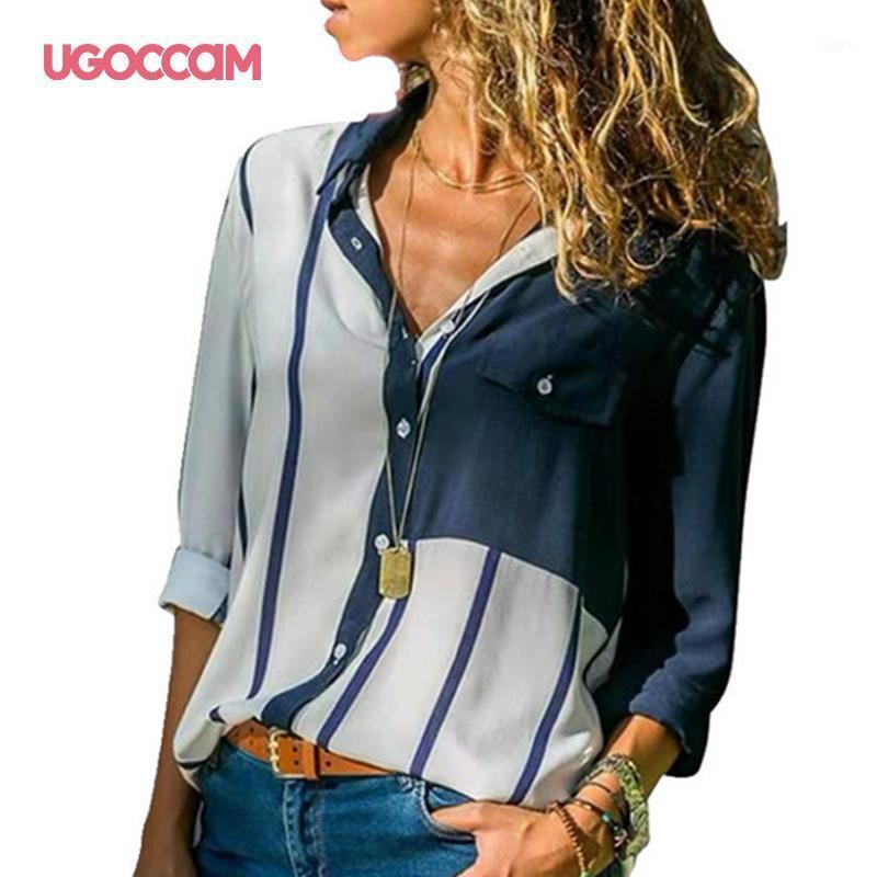 Mulheres Blusas Moda Manga Longa Surpreenda Colar Escritório Camisa Lazer Blusa Camisa Casual Tops Plus Size Blusas Femininas1
