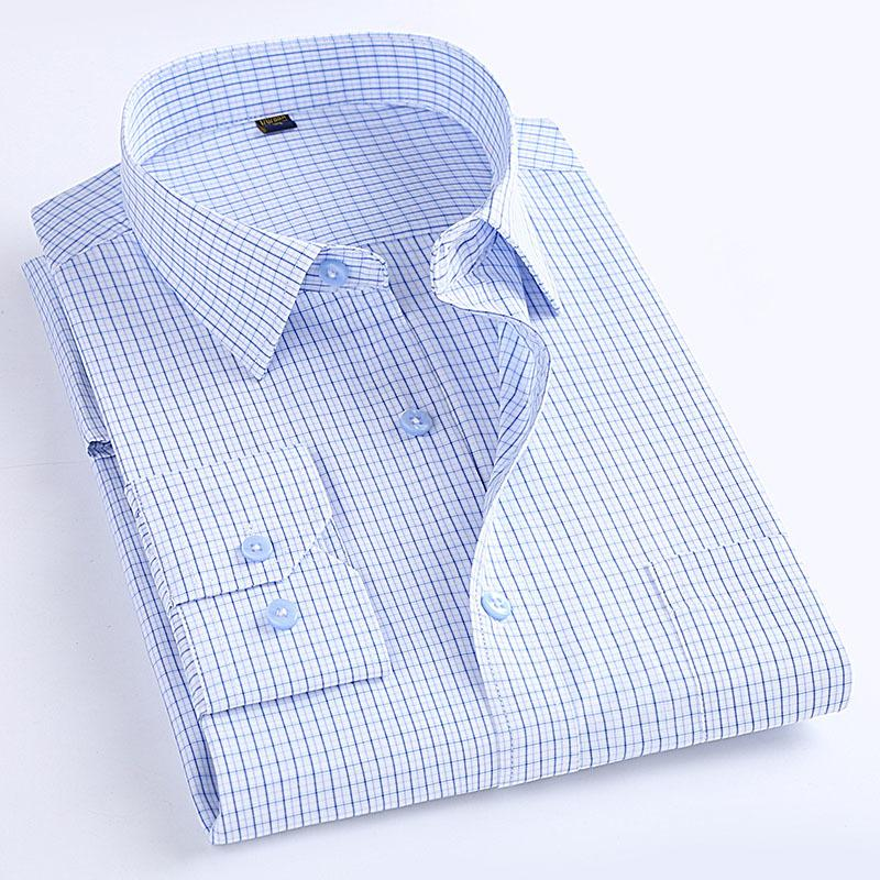 Macrosea Классический стиль мужские клетчатые рубашки с длинным рукавом мужские повседневные рубашки удобные дышащие мужские офисные одежда одежда C1215