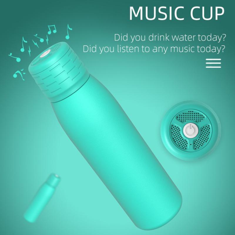 Беспроводной громкоговоритель Бутылка Bluetooth Музыкальный Кубок Открытый Динамик Thermos IPX6 Водонепроницаемый Bluetooth Изолированная вакуумная флакон