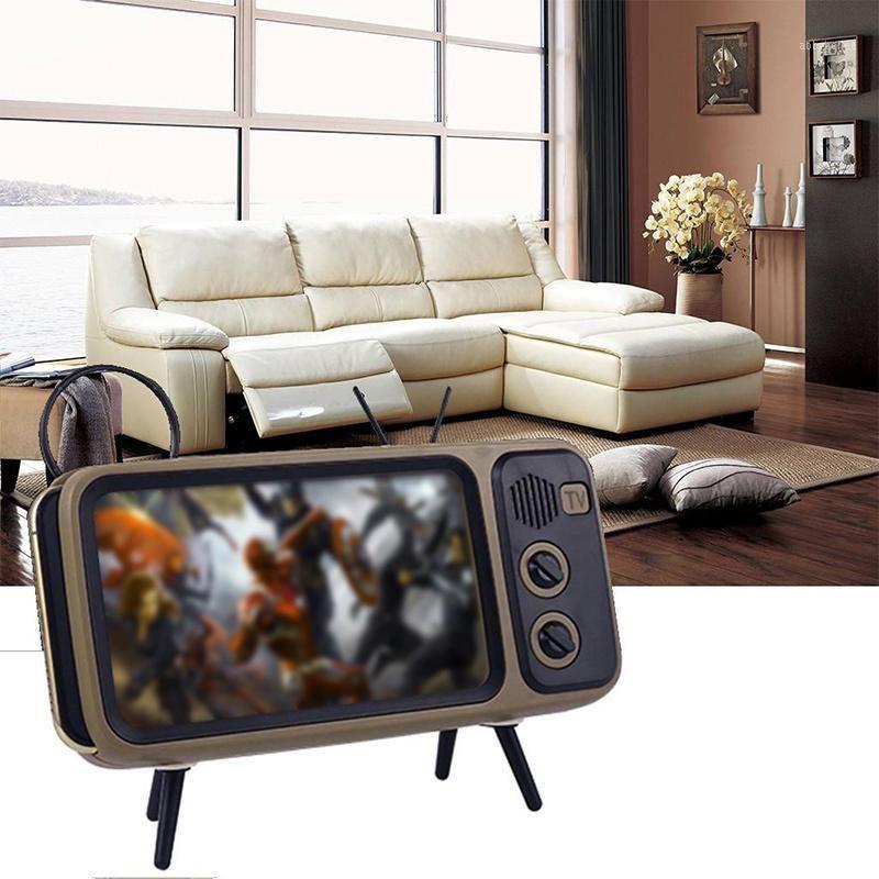 Retro TV Bluetooth Speaker Stereo Bracket Movies Mobile Phone Bluetooth Speaker TV Audio Elettrico Portatile Mini wireless1