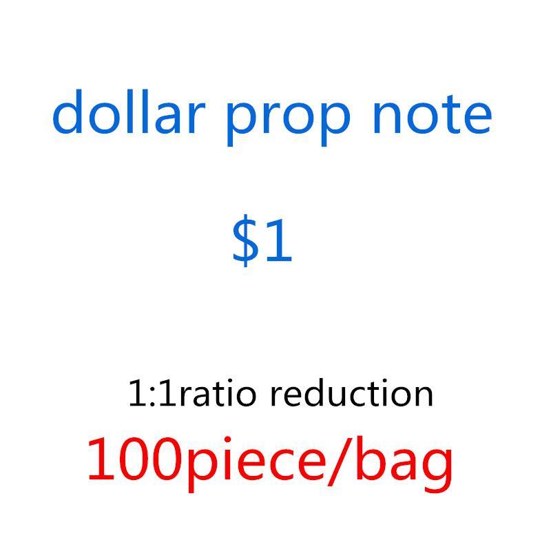 Toy U.S.S.Currency Props Forjado Dólar Billetes de banco 1 Falso UPIAW Disparo U5 Performance Money Copiar Niños Bar Bank UEOFA