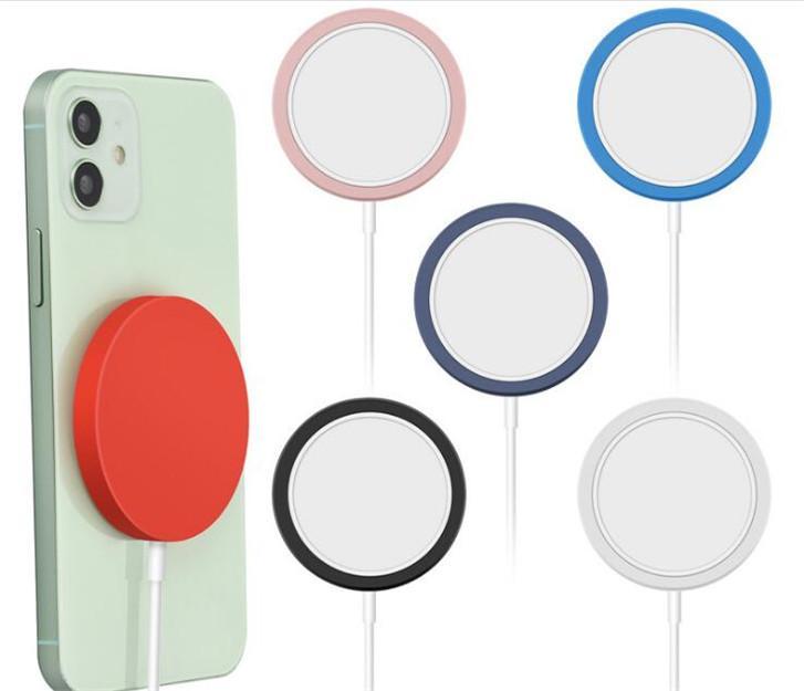 뜨거운 품목 자기 충전 실리콘 보호 충전기 케이스 iphone12 무선 충전 충전기 보호 커버에 적합 DHL