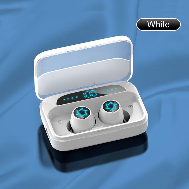 2021 S15 Bluetooth Kulaklık Dokunmatik Parmak İzi TWS Kablosuz Kulaklıklar 8D Stereo Gürültü Azaltma Handsfree Kulaklık Kulakiçi Telefon için